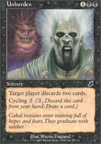 Unburden Magic Card