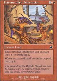 Uncontrolled Infestation Magic Card