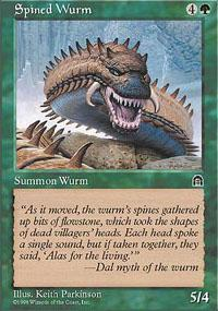 Spined Wurm Magic Card