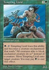 Tempting Licid Magic Card