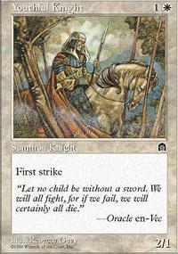 Youthful Knight Magic Card