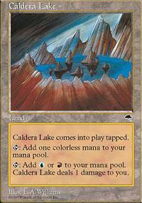 Caldera Lake Magic Card