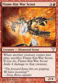 Flame-Kin War Scout Magic Card