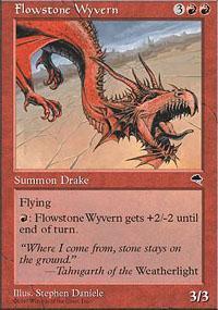 Flowstone Wyvern Magic Card