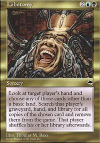 Lobotomy Magic Card