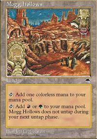 Mogg Hollows Magic Card