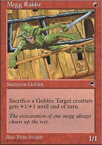 Mogg Raider Magic Card