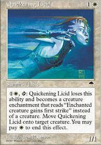 Quickening Licid Magic Card