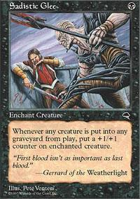 Sadistic Glee Magic Card
