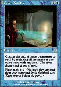 Alter Reality Magic Card