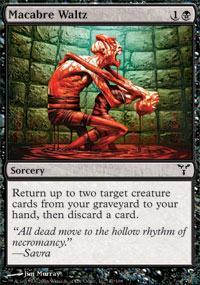 Macabre Waltz Magic Card