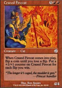 Crazed Firecat Magic Card