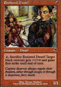 Enslaved Dwarf Magic Card