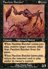 Faceless Butcher Magic Card