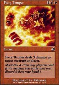 Fiery Temper Magic Card