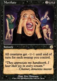 Mutilate Magic Card