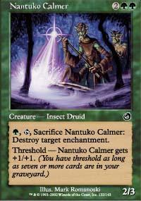Nantuko Calmer Magic Card