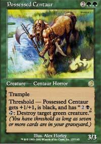 Possessed Centaur Magic Card