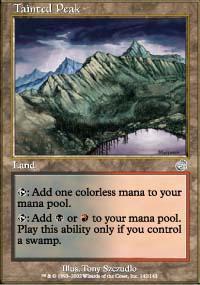 Tainted Peak Magic Card