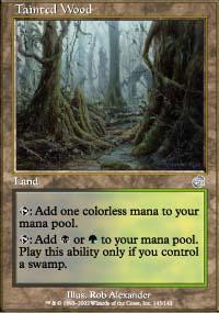 Tainted Wood Magic Card