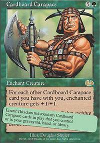 Cardboard Carapace Magic Card