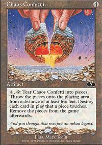 Chaos Confetti Magic Card