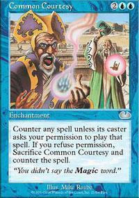 Common Courtesy Magic Card
