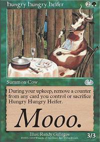 Hungry Hungry Heifer Magic Card