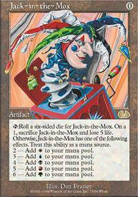 Jack-in-the-Mox Magic Card