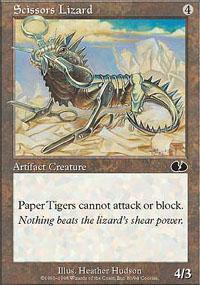 Scissors Lizard Magic Card