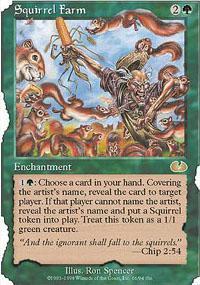Squirrel Farm Magic Card
