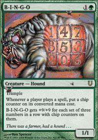 B-I-N-G-O Magic Card