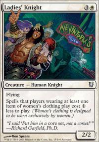 Ladies' Knight Magic Card