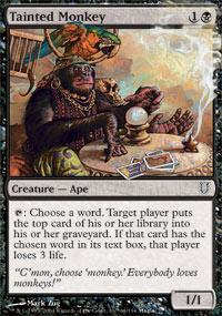 Tainted Monkey Magic Card