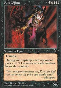 Aku Djinn Magic Card
