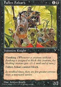 Fallen Askari Magic Card