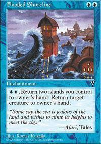 Flooded Shoreline Magic Card
