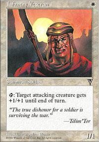Infantry Veteran Magic Card