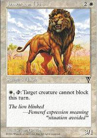 Jamuraan Lion Magic Card