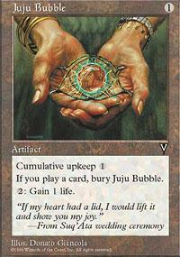 Juju Bubble Magic Card