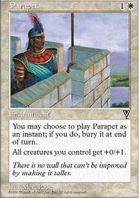 Parapet Magic Card