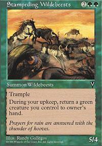 Stampeding Wildebeests Magic Card