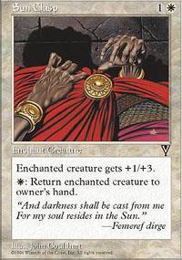 Sun Clasp Magic Card