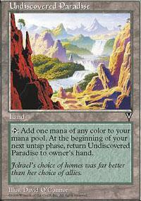 Undiscovered Paradise Magic Card