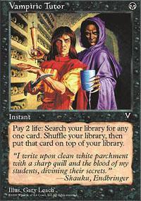 Vampiric Tutor Magic Card