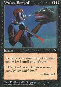 Wicked Reward Magic Card