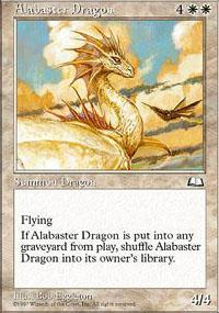 Alabaster Dragon Magic Card