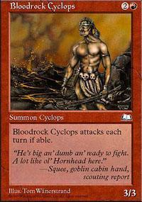Bloodrock Cyclops Magic Card