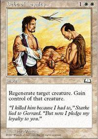 Debt of Loyalty Magic Card