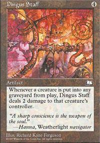 Dingus Staff Magic Card